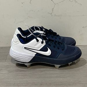 Nike Zoom Air Alpha Baseball Cleats Navy Blue